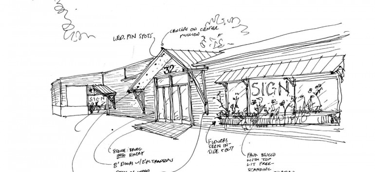 Concept drawing for exterior
